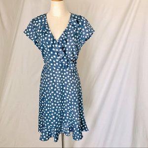 STELLA (for Myer) 'Daisy Drop' Dress, Blue Size 10